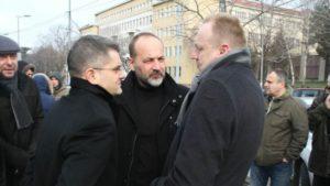 Saša Janković sa drugim opozicionarima