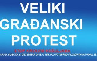 """Najava za protest """"Stop krvavim košuljama"""""""