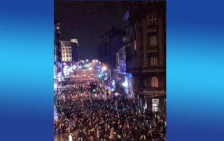 Hiljade ljudi na protestima u Beogradu