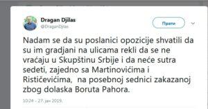 Tvit Dragana Đilasa