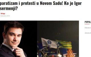Igor Besermenji na sajtu Istraga.rs