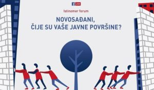 Najava diskusije o javnim površinama u Novom Sadu