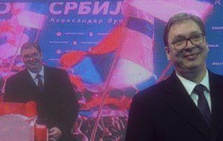 Aleksandar Vučić govori u kampanji Budućnost Srbije