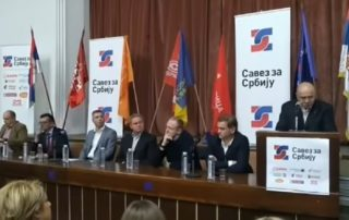 Osnivači Saveza za Srbiju na konferenciji za novinare