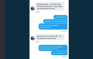 Upozorenja Mariji Lukić na Tviteru